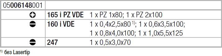Набор отверток Kraftform Plus Серия 100 + индикатор напряжения + подставка (SL, PZ) 160 i/165 i/7 Rack WERA 05006148001