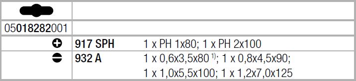 Набор ударных отверток ( SL, PH ) WERA 05018282001