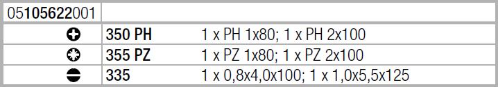 Набор отверток Plus ( SL, PH, PZ ) WERA 05105622001