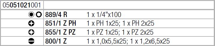 Отвертка с набором бит Kraftform Kompakt 20 с сумкой (SL, PH, PZ) Wera 05051021001