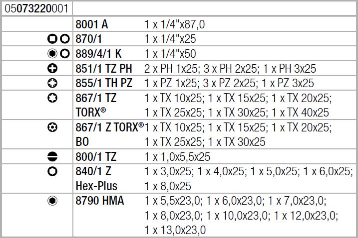Набор Tool-Check 1 SB Wera 05073220001