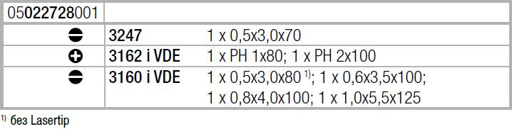 Набор отверток из нержавеющей стали + подставка 3160 i/7 (SL, PH) WERA 05022728001