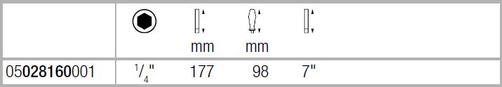 Ручка-держатель насадок с гибким стержнем WERA 05028160001