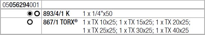 Набор бит с держателем Mini-Check TORX WERA 05056294001