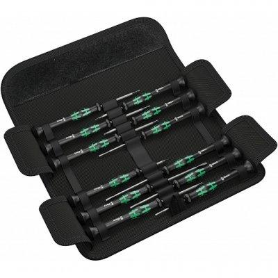 Набор отвёрток для электронщиков в сумке Kraftform Micro 12 Universal 1 ( SL, PH, HEX, TX ) WERA 05073675001