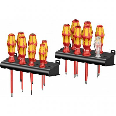Набор диэлектрических отвёрток Kraftform Big Pack 100 VDE (SL, PH, PZ, PZ/S, TX) WERA 05105631001