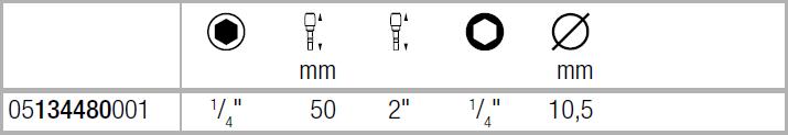 Универсальный битодержатель 893/4/1 K 50мм WERA 05134480001