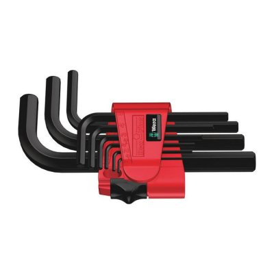 Набор Г-образных ключей, метрических, BlackLaser 950/9 Hex-Plus 7 Wera 05021737001