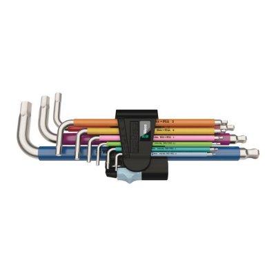 Набор Г-образных ключей, метрических, нержавеющая сталь 3950/9 Hex-Plus Multicolour Stainless 1 Wera 05022669001
