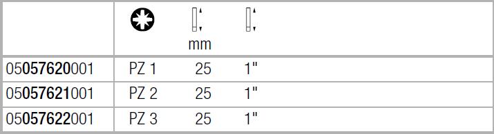 Бита Impaktor ударная PZ1х25 мм WERA 05057620001