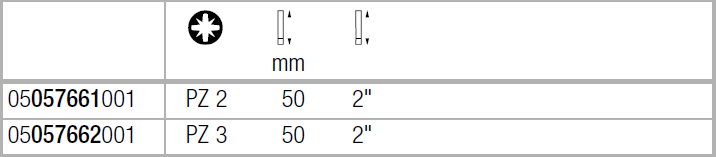 Бита Impaktor ударная PZ2х50 мм WERA 05057661001