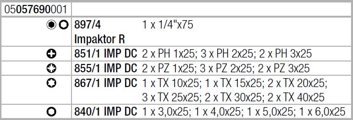 Bit-Check 30 Impaktor 1 Wera 05057690001
