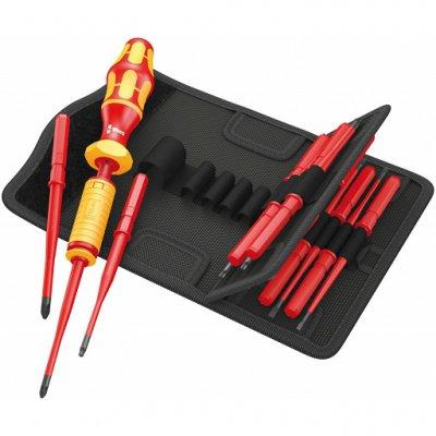 Набор Kraftform Kompakt VDE 15 Torque 1,2-3,0 Nm extra slim 1 с динамометрической отвёрткой (SL, PH, PZ, PZ/S, TX) WERA 05059291001