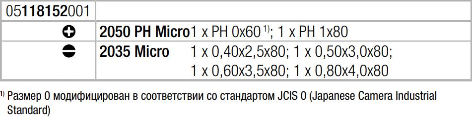 Набор отверток для электронщиков ( SL, PH ) Wera 05118152001