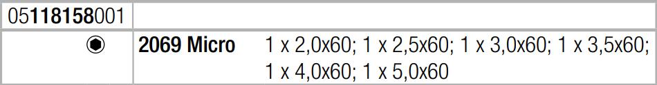 Набор отверток для электронщиков для винтов с наружным шестигранником Wera 05118158001