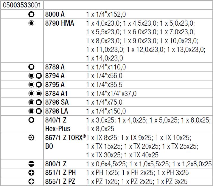 "Набор с трещоткой Zyklop Speed 8100 SA 2 , 1/4"", метрический Wera 05003533001"