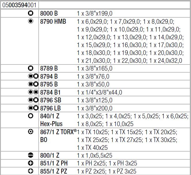 "Набор 8100 SB 2 с трещоткой Zyklop Speed, 3/8"" Wera 05003594001"