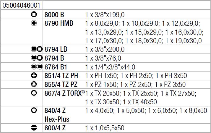 "Zyklop Speed 8100 SB 6 - набор с трещоткой, привод 3/8"", метрический Wera 05004046001"