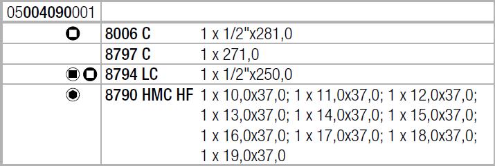 "Zyklop Hybrid 8006 SC 1 - набор с трещоткой, привод 1/2"", метрический Wera 05004090001"