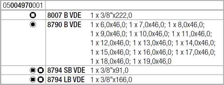 """Tрещотка Zyklop 8100 SB VDE 1 в наборе, изолированный, переключатель реверса, привод 3/8"""", метрический WERA 05004970001"""