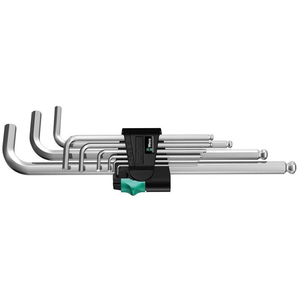 Набор Г-образных ключей, метрических, хромированных 950/9 Hex-Plus 1 Wera 05022087001