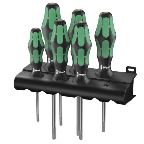 Набор отверток TORX® HF Kraftform Plus с фиксирующей функцией + подставка WERA 05028059001