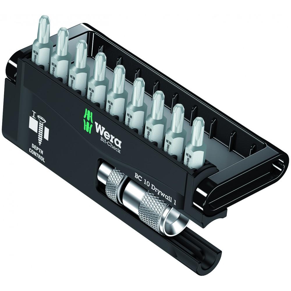 Bit-Check 10 Drywall 1 (набор гипсокартонщика) Wera 05136011001
