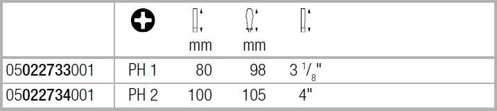 Крестовая отвертка из нержавеющей стали 3162 i PH VDE PH1 | PH2 Wera