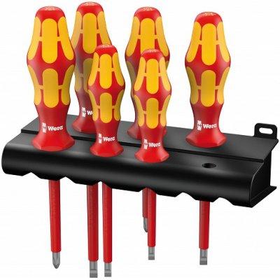Набор изолированных отверток Kraftform Plus Серия 100 + подставка (SL, PH) 160 i/6 Rack WERA 05006145001