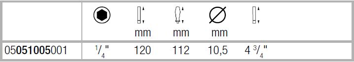 Ручка-битодержатель 810/1 с пружинным стопорным кольцом WERA 05051005001