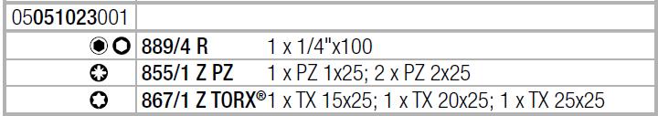 Отвертка с набором бит Kraftform Kompakt 22 с сумкой (PZ, TX) Wera 05051023001