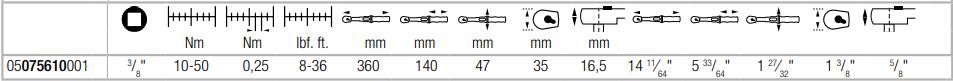 Динамометрический ключ с трещоткой 3/8″ с реверсом Click-Torque B 1 (10-50 Нм) WERA 05075610001