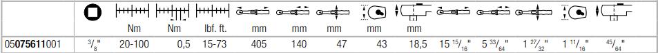 Динамометрический ключ с трещоткой 3/8″ с реверсом Click-Torque B 2 (20-100 Нм) WERA 05075611001