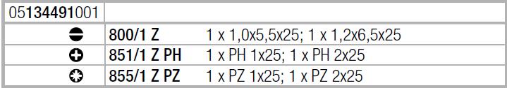 Отвертка с набором насадок Kraftform Kompakt 28 с сумкой (SL, PH, PZ) Wera 05134491001
