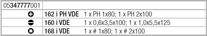 Набор отверток Kraftform Plus Серия 100 + подставка (SL, PH, квадрат) 160 i/168 i/6 Rack WERA 05347777001