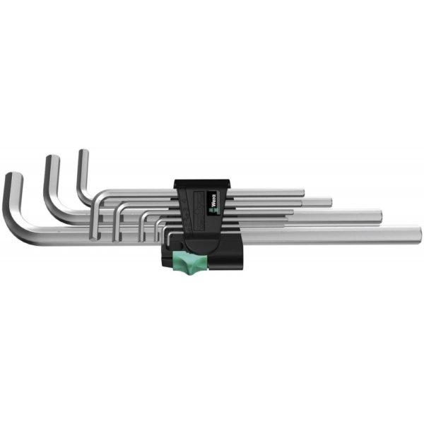 Набор г-образных ключей, метрических, хромированных 950/9 Hex-Plus 2 WERA 05021909001