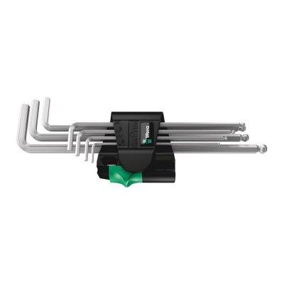 Набор Г-образных ключей, метрических, хромированных 950/7 Hex-Plus Magnet 1 Magnet WERA 05022101001