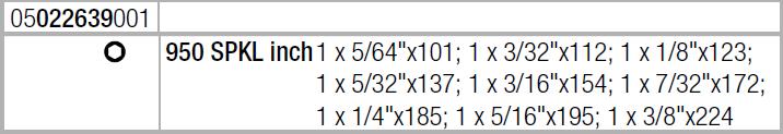 Набор Г-образных ключей, дюймовых, BlackLaser 950/9 Hex-Plus Multicolour Imperial 1 WERA 05022639001