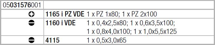 Набор отверток Kraftform Comfort VDE + индикатор напряжения 1160 i/1165 i/7 (SL, PZ) WERA 05073576001