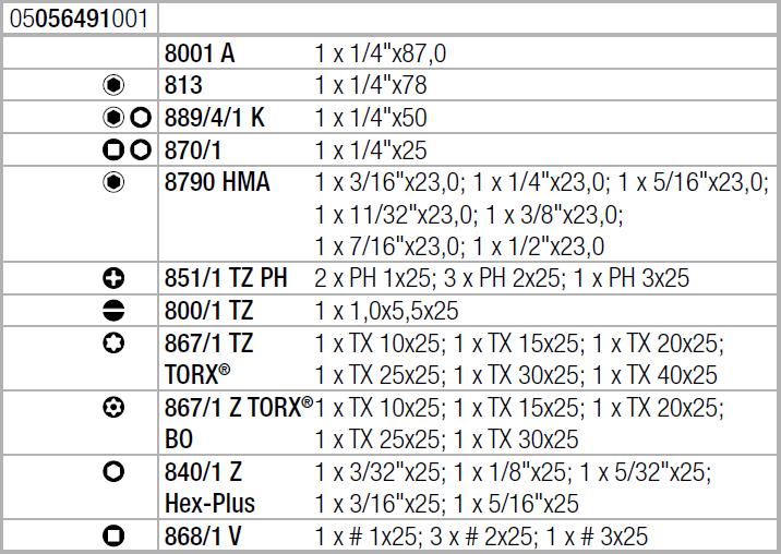 Tool-Check PLUS Imperial дюймовый WERA 05056491001