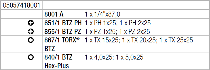 Bit-Check 10 Zyklop Mini BiTorsion 1 WERA 05057418001