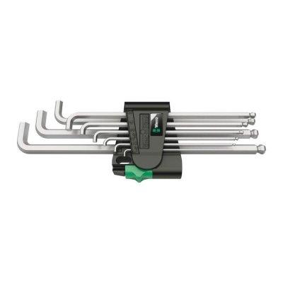 Набор Г-образных ключей с коротким стержнем, метрических, хромированных 950/9 Hex-Plus 4 WERA 05073594001