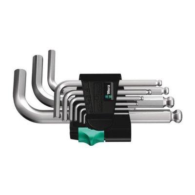 Набор Г-образных ключей, метрических, хромированных 950/9 Hex-Plus 3 WERA 05133163001