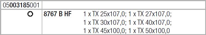 """Набор отверточных головок Zyklop TORX®, с фиксирующей функцией, привод 3/8"""" 8767 B TORX® HF 1 WERA 05003185001"""