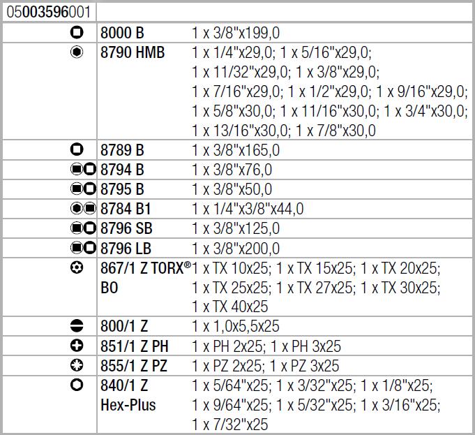 """Набор с трещоткой Zyklop Speed 8100 SB 4 , привод 3/8"""", дюймовый WERA 05003596001"""