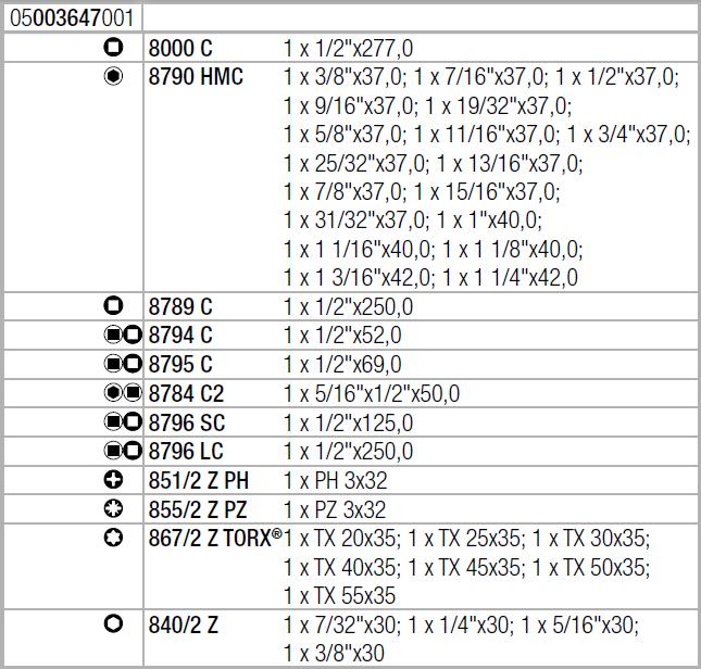 """Набор с трещоткой Zyklop Speed, 1/2"""", дюймовый 8100 SC 4 WERA 05003647001"""