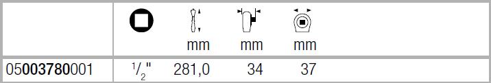 "Zyklop Hybrid 8006 C - трещотка, переключение реверса, привод 1/2"" WERA 05003780001"
