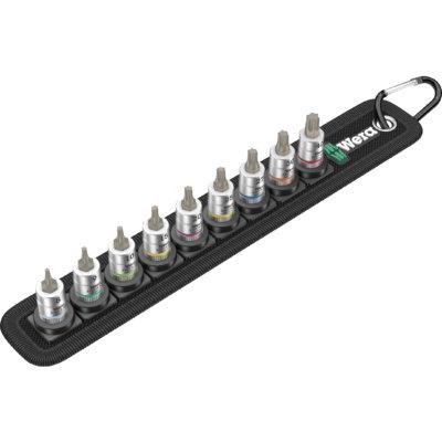 """Набор отверточных головок Zyklop TORX®, с фиксирующей функцией, 1/4"""" Belt A 3 TORX® HF WERA 05003882001"""
