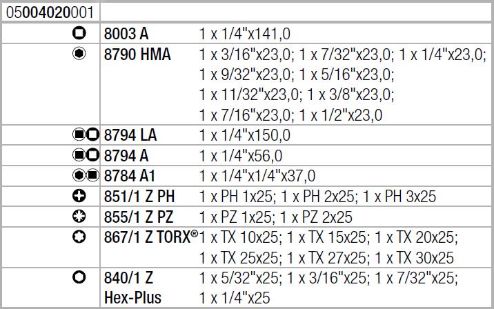 """Zyklop Metal 8100 SA 10 - набор с трещоткой, сдвижной квадрат, привод 1/4"""", дюймовый WERA 05004020001"""