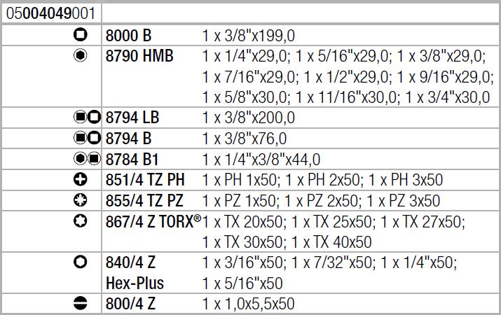 "Zyklop Speed 8100 SB 9 - набор с трещоткой, привод 3/8"", дюймовый WERA 05004049001"